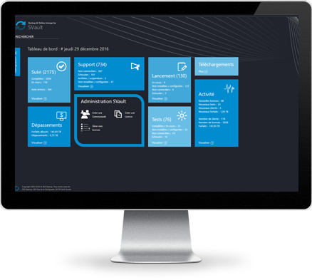Sauvegarde en ligne SVault - iMac